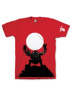 Wolfenstein - Trophy T-Shirt Lizenzware rot-weiss-schwarz