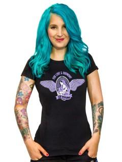 Vegan Girlie Shirt - For Love & Harmony