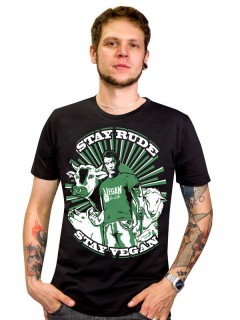 Vegan T-Shirt - Stay Rude, Stay Vegan