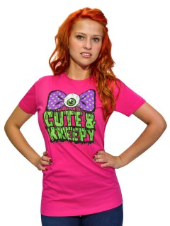 Kreepsville Gothic Girlie Shirt Cute and Kreepy pink