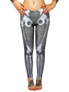 Kreepsville Skelett-Leggings schwarz-grau