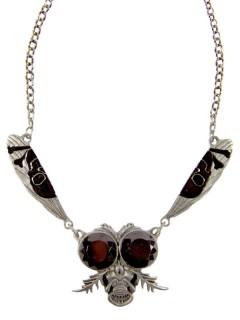 Kreepsville Gothic Halskette Fliege schwarz