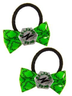 Kreepsville Gothic Haargummi-Set Miss Monster Schleife grau-grün
