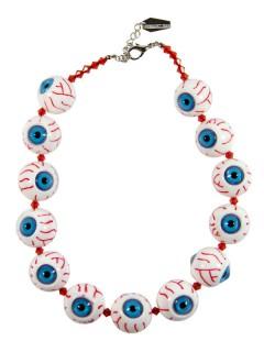 Kreepsville Halskette mit Augäpfeln weiss-blau-rot
