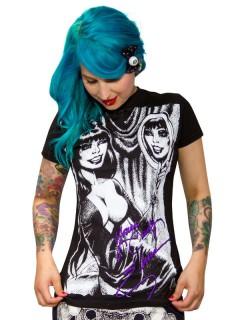 Kreepsville Gothic Girlie-Shirt Elvira Merchandise schwarz-weiss