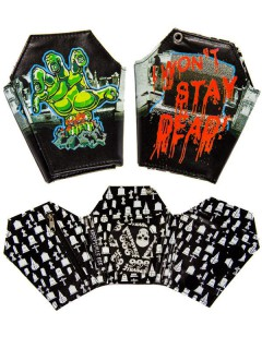 Kreepsville Gothic Brieftasche Sarg schwarz-bunt