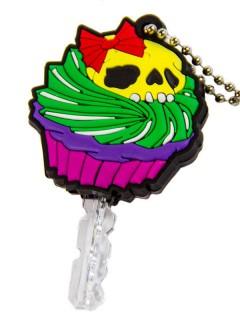 Kreepsville Gothic Schlüsselkappe Totenschädel Cupcake bunt