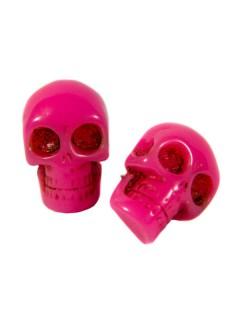 Kreepsville Gothic-Ohrstecker Totenkopf pink