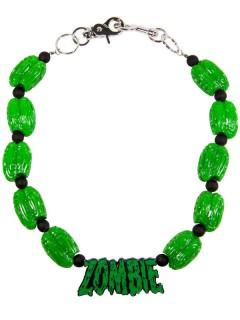 Kreepsville Geldbeutel Kette Gehirn Zombie grün