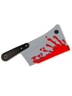 Kreepsville Gothic Haarklammer Hackbeil grau-schwarz-rot
