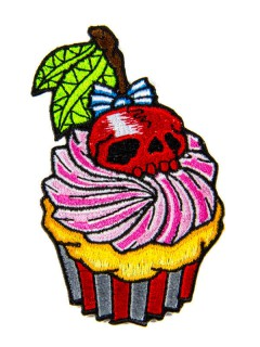Kreepsville Gothic Patch Cupcake pink-rot
