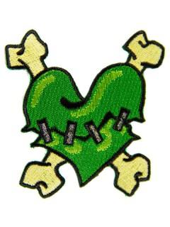 Kreepsville Gothic Patch Herz grün