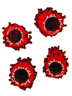 Kreepsville Gothic PatchEinschusslöcher 4 Stück schwarz-rot