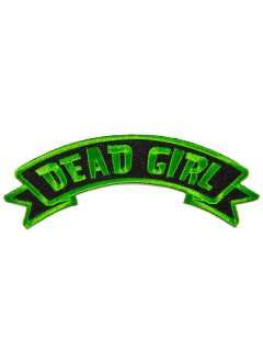 Kreepsville Gothic Aufnäher Dead Girl schwarz-grün 12cm