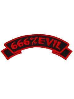 Kreepsville Gothic Aufnäher 666 Evil schwarz-rot