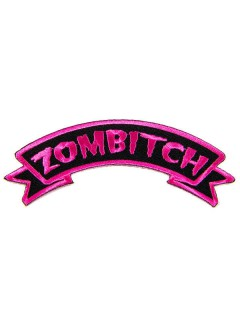 Kreepsville Gothic Patch Zombitch schwarz-rosa
