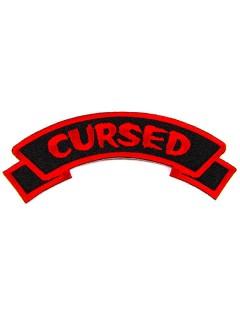 Kreepsville Gothic Patch Cursed schwarz-rot