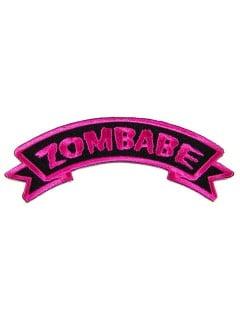 Kreepsville Gothic Aufnäher Zombabe schwarz-pink