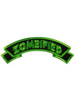 Kreepsville Gothic Patch Zombified schwarz-grün