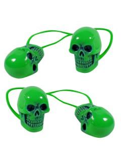Kreepsville Gothic Haargummi-Set Totenkopf grün