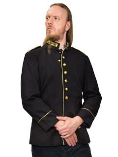 Gothic Uniform Jacke dunkelblau-gold