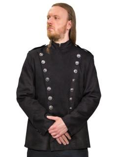 Gothic Uniformjacke schwarz-silber