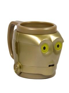 C3PO 3D Tasse goldfarben 12x12x10cm