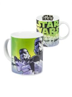 Start Wars™-Tasse Stormtrooper Lizenzartikel weiss-grün 320ml