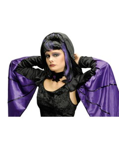 Fledermaus-Bolero Halloween lila-schwarz