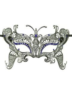 Venezianische Augenmaske mit Strasssteinen schwarz