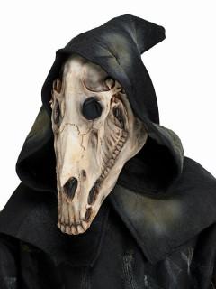 Pferde-Schädel-Maske für Halloween grau-weiss-schwarz