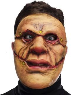 Monster-Maske beige-rot