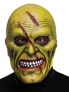 Psycho mit Narben Halloween-Maske grün-rot