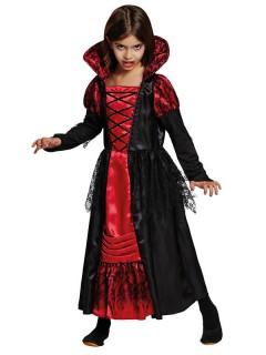 Vampir-Prinzessin Halloween-Kinderkostüm schwarz-rot
