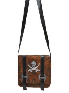 Handtasche für Piraten braun
