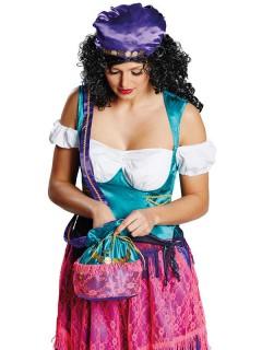 Orientalische Tasche Wahrsagerin-Handtasche blau-rosa