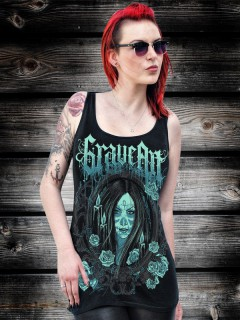 GraveArt Love Til Death Damen Tank Top lang schwarz
