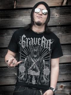 GraveArt Scythe T-Shirt schwarz
