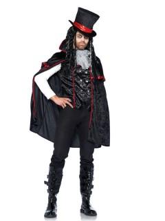 Vampir-Herrenkostüm Halloween-Kostüm schwarz-rot
