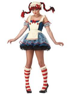 Puppenkostüm Ragdoll blau-weiss-rot