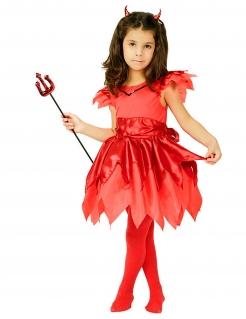 Teufelin-Kinderkostüm rot