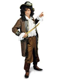 Piraten-Jacke für Piratenkostüme braun-schwarz