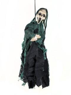 Tod Skelett Halloween-Dekoration Hängedeko schwarz 40x20cm