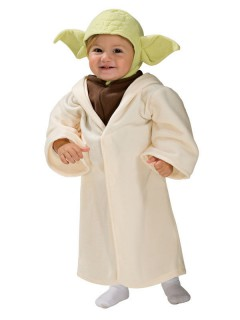 Star Wars™ Yoda-Babykostüm beige-braun-grün