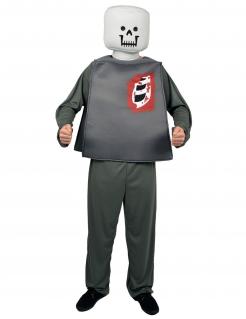 Spielfigur Kostüm Zombie Halloween grau-weiss