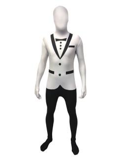 Weisser Anzug Morphsuit weiss-grau