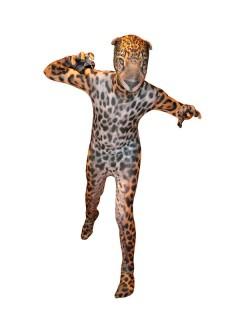 Jaguar Kinder Morphsuit braun-schwarz
