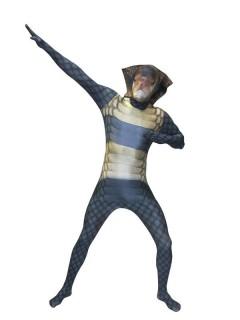 Kobra Kinder Morphsuit blau-beige