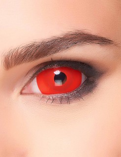 Sclera Kontaktlinsen roter Teufel Halloween-Make-up rot