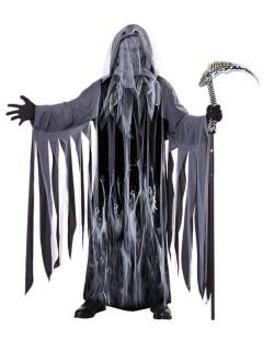 Tod Sensenmann Halloween-Kostüm schwarz-grau